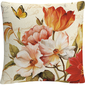 Trademark Fine Art Lisa Audit Poesie Florale III Decorative Throw Pillow