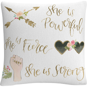 Trademark Fine Art Jenaya Jackson Girl Power IV Decorative Throw Pillow