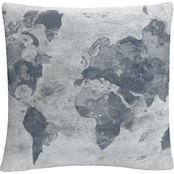Trademark Fine Art Albena Hristova Golden World Neutral Decorative Throw Pillow