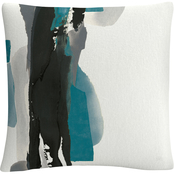 Trademark Fine Art Chris Paschke Black and Teal II Decorative Throw Pillow