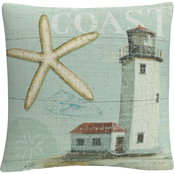 Trademark Fine Art Lisa Audit Beach House II Decorative Throw Pillow