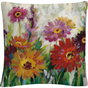 Trademark Fine Art Silvia Vassileva Jewel Daisy Gerbera Decorative Throw Pillow