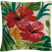 Trademark Fine Art Silvia Vassileva Tropical Jewels II v2 Crop Decorative Pillow