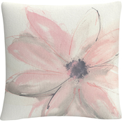 Trademark Fine Art Chris Paschke Blush Clematis I Decorative Throw Pillow
