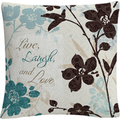 Trademark Fine Art Lisa Audit Botanical Touch Quote II Decorative Throw Pillow