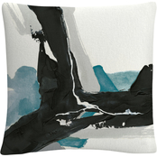 Trademark Fine Art Chris Paschke Black and Teal III Decorative Throw Pillow