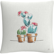 Trademark Fine Art Daphne Brissonnet Desert Bloom V Decorative Throw Pillow