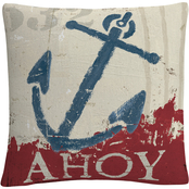 Trademark Fine Art Wellington Studio Nautical IV Red Decorative Throw Pillow