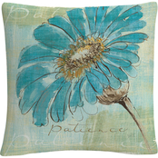 Trademark Fine Art Chris Paschke Spa Daisies II Decorative Throw Pillow