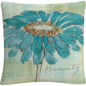 Trademark Fine Art Chris Paschke Spa Daisies I Decorative Throw Pillow