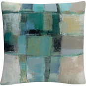 Trademark Fine Art Silvia Vassileva Island Hues Crop II Decorative Throw Pillow