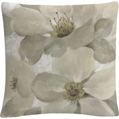 Trademark Fine Art Silvia Vassileva White on White Floral I Crop Neutral Pillow