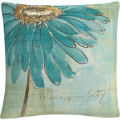 Trademark Fine Art Chris Paschke Spa Daisies III Decorative Throw Pillow