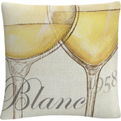 Trademark Fine Art Daphne Brissonnet Les Blancs Decorative Throw Pillow