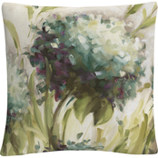 Trademark Fine Art Lisa Audit Hydrangea Field Decorative Throw Pillow