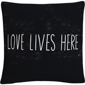 Trademark Fine Art Michael Mullan Love Lives Here Decorative Throw Pillow