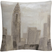 Trademark Fine Art Silvia Vassileva City Blocks I Greige Decorative Throw Pillow