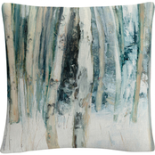 Trademark Fine Art Julia Purinton Winter Woods III Decorative Throw Pillow