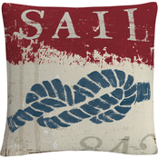 Trademark Fine Art Wellington Studio Nautical III Red Throw Pillow