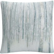 Trademark Fine Art Julia Purinton Birches in Winter Decorative Throw Pillow