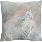 Trademark Fine Art Chris Paschke Blush Horses II Decorative Throw Pillow