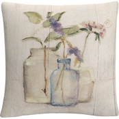 Trademark Fine Art Cheri Blum Blossoms on Birch I Decorative Throw Pillow