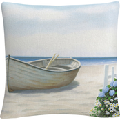Trademark Fine Art James Wiens Beach Days I Decorative Throw Pillow