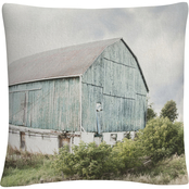 Trademark Fine Art Elizabeth Urquhart Late Summer Barn I Crop Decorative Pillow