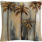 Trademark Fine Art Silvia Vassileva Palm Trees II Decorative Throw Pillow