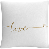 Trademark Fine Art Veronique Charron Underlined Thoughts I Decorative Throw Pillow