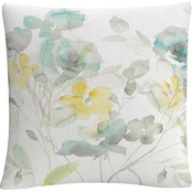 Trademark Fine Art Danhui Nai Aqua Roses Shadows Decorative Throw Pillow
