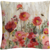 Trademark Fine Art Silvia Vassileva Sprinkled Flowers Crop Decorative Throw Pillow