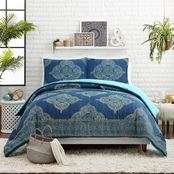 Jessica Simpson Denim Blue Medallion 3 pc. Comforter Set