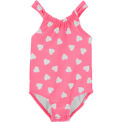 Carter's Infant Girls Neon Heart 1 pc. Swimsuit