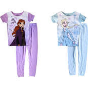 Disney Little Girls Frozen 4 pc. Pajama Set