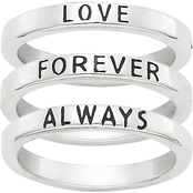 James Avery Love Forever Always Ring 3 pc. Set