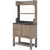 Furniture of America Denske 2 Door Kitchen Storage Hutch