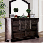 Furniture of America Amadora Dresser and Mirror