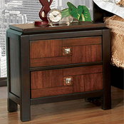 Furniture of America Patra 2 Drawer Nightstand