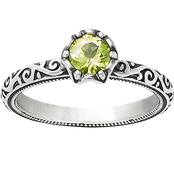 James Avery Sterling Silver Cherished Birthstone Peridot Ring