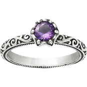 James Avery Sterling Silver Amethyst Cherished Birthstone Ring