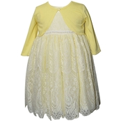 Blueberi Boulevard Girls Cardigan Lace Dress Set