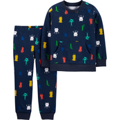 Carter's Infant Boys Monster Pullover and Jogger Pants 2 pc. Set