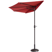 Pure Garden 9 ft. Fade Resistant Half Patio Umbrella
