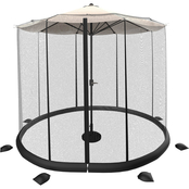 Pure Garden Patio Umbrella Mosquito/Bug Net for 10 to 11 ft. Table