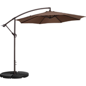 Pure Garden 10 ft. Offset Patio Umbrella with Vertical Tilt