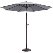 Pure Garden 9 ft. Fade Resistant Patio Umbrella with Auto Tilt
