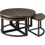 Signature Design by Ashley Johurst Cocktail Table with 4 Stools