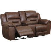 Signature Design by Ashley Stoneland Double Reclining Loveseat with Console