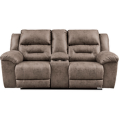 Signature Design by Ashley Stoneland Double Power Reclining Loveseat with Console